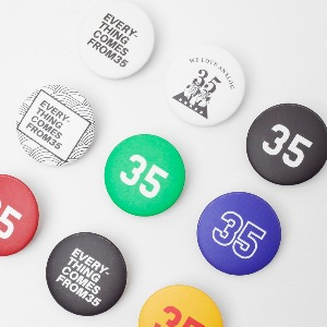 Label35Mini Pin Button 핀버튼 (9 type)